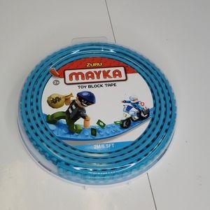 ZURU Mayka turquoise blue toy block tape